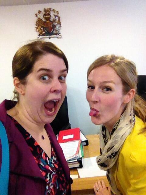 FOI selfie with Helen Lewis (my official 'court friend'). It was the end of the day. And we did ask before we took it.